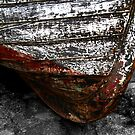 Chipped Paintwork, Old Boat, Cornwall by Samantha Higgs
