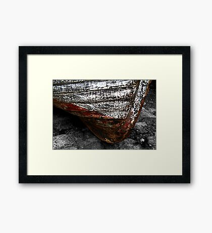 Chipped Paintwork, Old Boat, Cornwall Framed Print