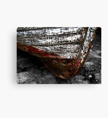 Chipped Paintwork, Old Boat, Cornwall Canvas Print