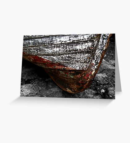 Chipped Paintwork, Old Boat, Cornwall Greeting Card
