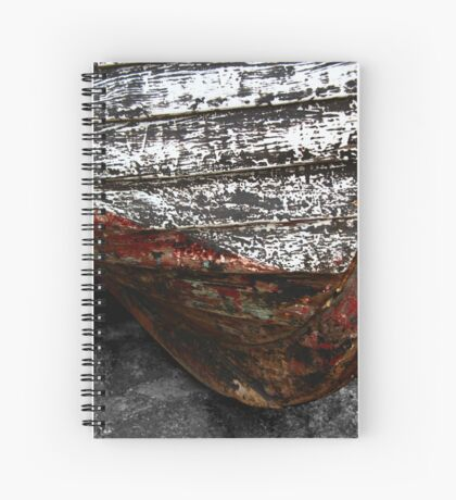 Chipped Paintwork, Old Boat, Cornwall Spiral Notebook