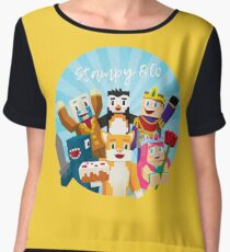 Stampy Cat and His Friends Chiffon Top