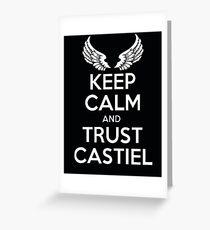 keep Calm Castiel Supernatural  Greeting Card