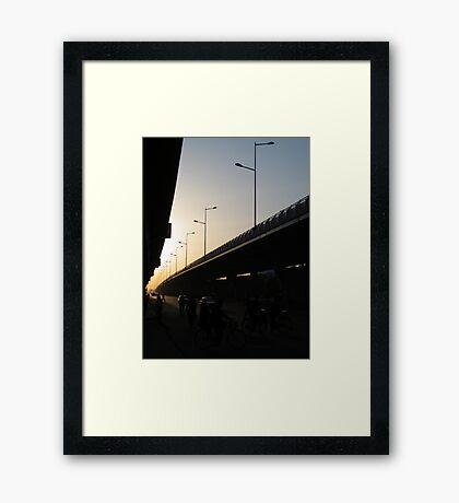Freeway Sunset Framed Print
