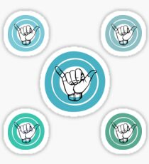 SHAKA ASL 5 stickers Sticker