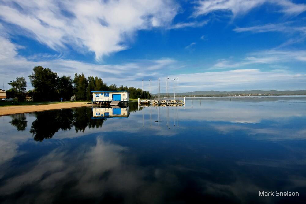 Tuggerah Lake Reflection by Mark Snelson