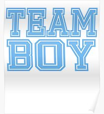 Team Boy Blue Mom Baby Shower Gender Reveal Party Cute Funny Gift Poster