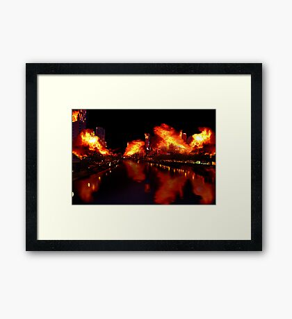 I watched a snail crawl along the edge of a straight razor Framed Print