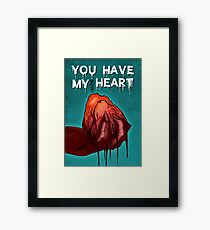 Monster Love - I Give You My bl**dy Heart Framed Print