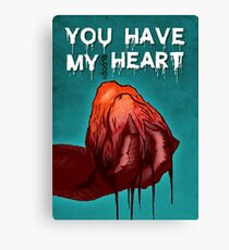 Monster Love - I Give You My bl**dy Heart Canvas Print