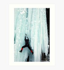 Ice Climber Art Print