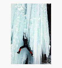 Ice Climber Photographic Print