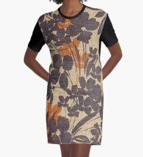 Canvas Flowers Graphic T-Shirt Dress