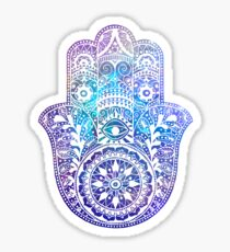 Space Hamsa Hand - I Sticker