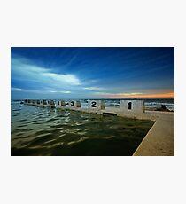 Merewether Ocean Baths at Dusk 2 Photographic Print