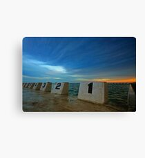 Merewether Ocean Baths at Dusk 3 Canvas Print