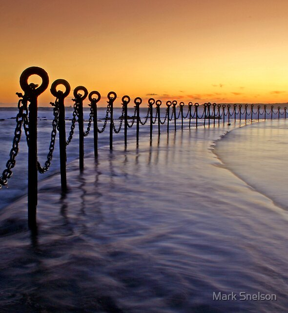 Post & Chains at Dusk by Mark Snelson