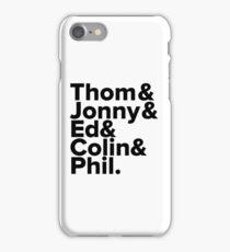 Radiohead Names (Black) iPhone Case/Skin