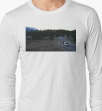 Cars around a bend on a Breckenridge Road  T-Shirt
