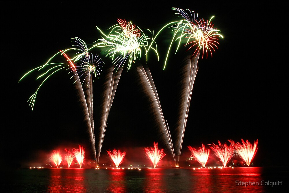 Fire works display by Stephen Colquitt