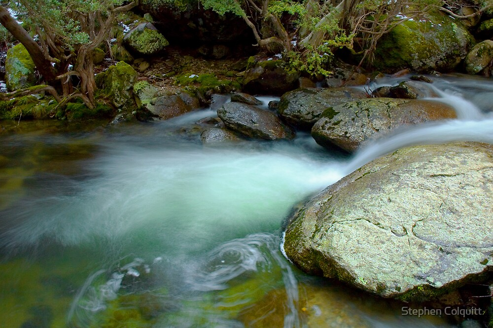 Tranquil Thredbo Stream by Stephen Colquitt