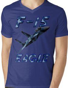 F15 Eagle in Aggressor Paint Mens V-Neck T-Shirt