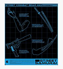 Shadowrun - Street Samurai Shirt (Version 3) Photographic Print