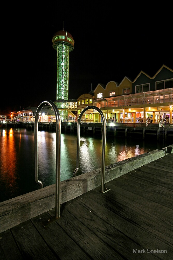 Queens Wharf at Night by Mark Snelson