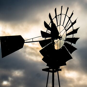 Windmill Silhouette  by swagfrog