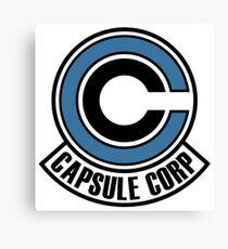 capsule corp blue black Canvas Print