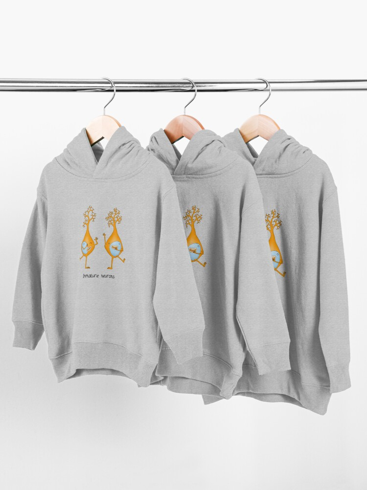 Alternate view of Immature Neurons Toddler Pullover Hoodie