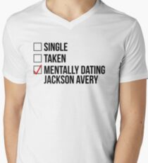 MENTALLY DATING JACKSON AVERY Men's V-Neck T-Shirt