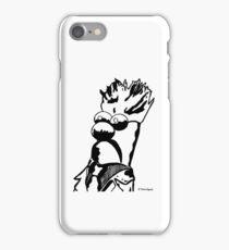 Black and White Beaker Portrait by JTownsend iPhone Case/Skin