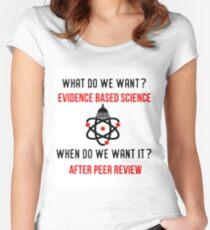 Scientists March on Washington Evidence Based Science Women's Fitted Scoop T-Shirt