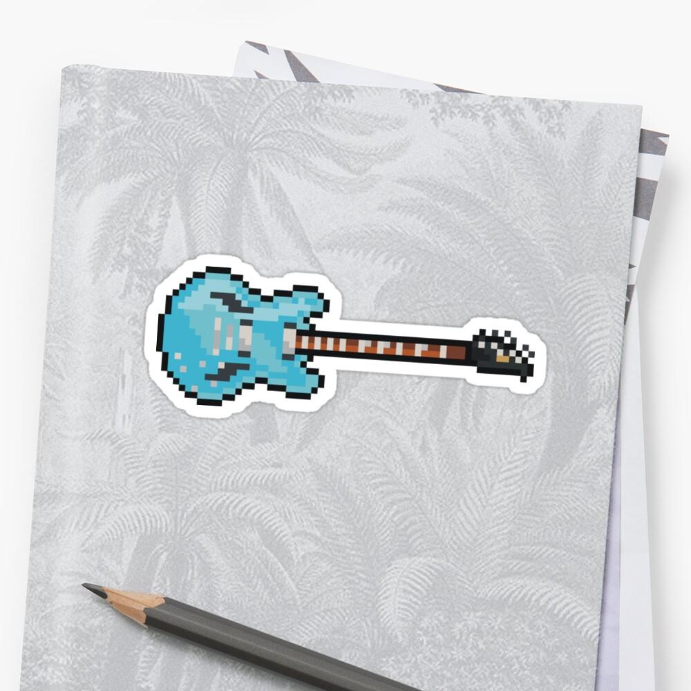 Pixel Blue Gibson DG Guitar by gkillerb