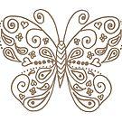 Gold Butterfly by Kristin Omdahl