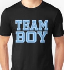 Team Boy Mom Baby Shower Blue Gender Reveal Party Cute Funny Gift Unisex T-Shirt