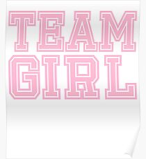Team Girl Mom Baby Shower Pink Gender Reveal Party Cute Funny Gift Poster