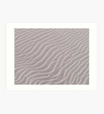 Ripples in the sand Art Print