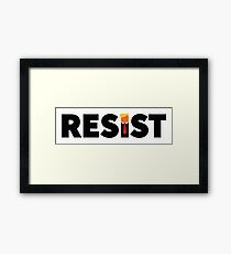 RESIST Framed Print