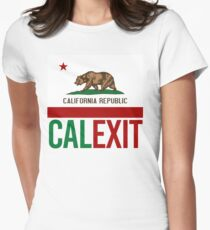 Calexit Womens Fitted T-Shirt