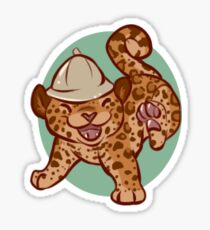 Leaping Leopards Sticker