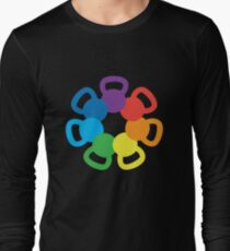 Rainbow Kettlebell Long Sleeve T-Shirt
