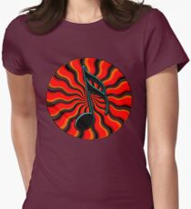 Red Hot Semiquaver -  16th Note Music Symbol Women's Fitted T-Shirt