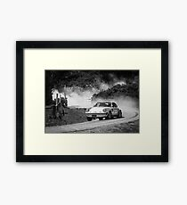 Porsche Rally Car Framed Print