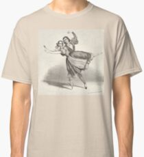 The Dancers, young man and woman, graphite, black white Classic T-Shirt