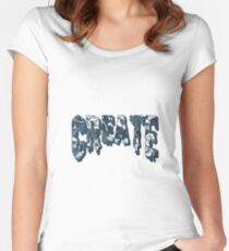Create Drippy Trippy floral Women's Fitted Scoop T-Shirt