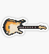 Pixel Black Flame Guitar Sticker