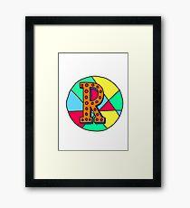 Alphabet R Framed Print