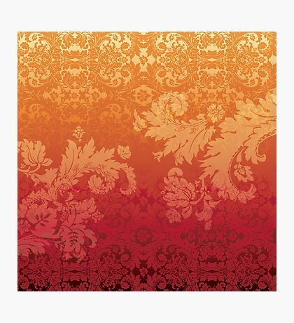 Retro floral wall paper Photographic Print